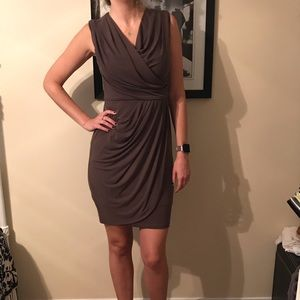 Suzi Chin for Maggy London size 4 brown dress